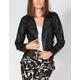 FULL TILT Womens Faux Leather Moto Jacket