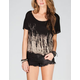 FULL TILT Tie Dye Womens Slash Back Top
