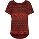 FULL TILT Ethnic Print Girls Ladder Back Tee