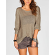 RAZZLE DAZZLE Womens Hi Low Melange Sweater