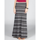 LILY WHITE Ethnic Stripe Maxi Skirt