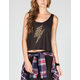 FULL TILT Leopard Bolt Womens Open Back Tank