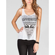 FULL TILT Diamond Womens Cross Open Back Tank