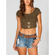 BOZZOLO Womens Crop Tee