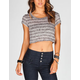FULL TILT Hachi Stripe Womens Crop Top