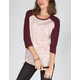 VANS Cheetah Rose Womens Baseball Tee