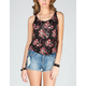 SOCIALITE Floral Womens Bar Back Tank