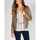 JACK BY BB DAKOTA Womens Fleece Hood Faux Leather Jacket
