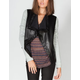 JACK BY BB DAKOTA French Terry Sleeve Womens Faux Leather Blazer