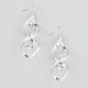 Glitter Twist Drop Earrings