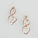 Glitter Twist Drop Earrings