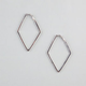 FULL TILT Rhinestone Kite Hoop Earrings