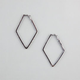 FULL TILT Rhinestone Kite Hoop Earrings
