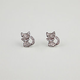 Rhinestone Kitty Earrings