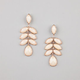 FULL TILT  Face Stone Drop Earrings