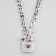 FULL TILT Rhinestone Heart Lock Necklace