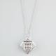FULL TILT 3D Diamond Pendant Neckalce