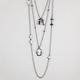 3 Row Cameo Necklace