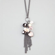 Heart/Flower/Bead Charm Necklace