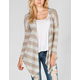 FULL TILT Hachi Knit Stripe Womens Sharkbite Cardigan