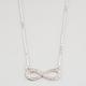 FULL TILT Rhinestone Infinity Pendant Necklace