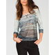 FULL TILT Space Dye Womens Dolman Top
