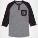 FAMOUS STARS & STRAPS Patch Mens Raglan T-Shirt