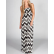 FIRE Smocked Chevron Maxi Dress