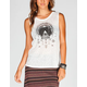 FULL TILT Tribal Eye Womens Twist Back Top