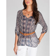FULL TILT Belted Womens Hi Low Shirt