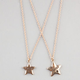 2 Piece Star Best Friends Necklaces Set