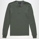 SHOUTHOUSE Solid Mens Henley Thermal