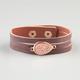 FULL TILT 3 Row Abalone Teardrop Cuff Bracelet