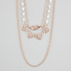FULL TILT 3 Row Heart Chain Bobble Necklace