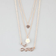 FULL TILT 3 Row Epoxy Flower/Heart Necklace