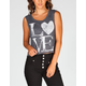 FULL TILT Love Womens Muscle Crop Tank