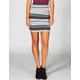 LILY WHITE Chevron Stripe Bodycon Skirt