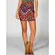 LILY WHITE Geometric Print Bodycon Skirt