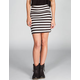 LILY WHITE Striped Bodycon Skirt