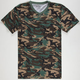 BLUE CROWN Camo Notch Mens T-Shirt