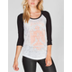 HURLEY To The Beach Womens Baseball Tee