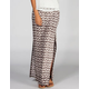 FULL TILT Sketch Print Double Slit Maxi Skirt