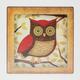 Tin Owl Plaque