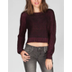 FULL TILT Reverse Stitch Womens Hi Low Sweater
