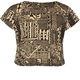FULL TILT Ethnic Print Girls Crop Tee