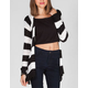 FULL TILT Chevron Stripe Womens Wrap Sweater