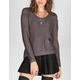 RAZZLE DAZZLE Womens Hi Low Sweater
