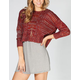 FULL TILT Open Stitch Womens Cable Knit Sweater