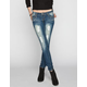 ALMOST FAMOUS Stud Pocket Womens Destructed Skinny Jeans