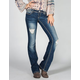 ALMOST FAMOUS Womens Destructed Bootcut Jeans